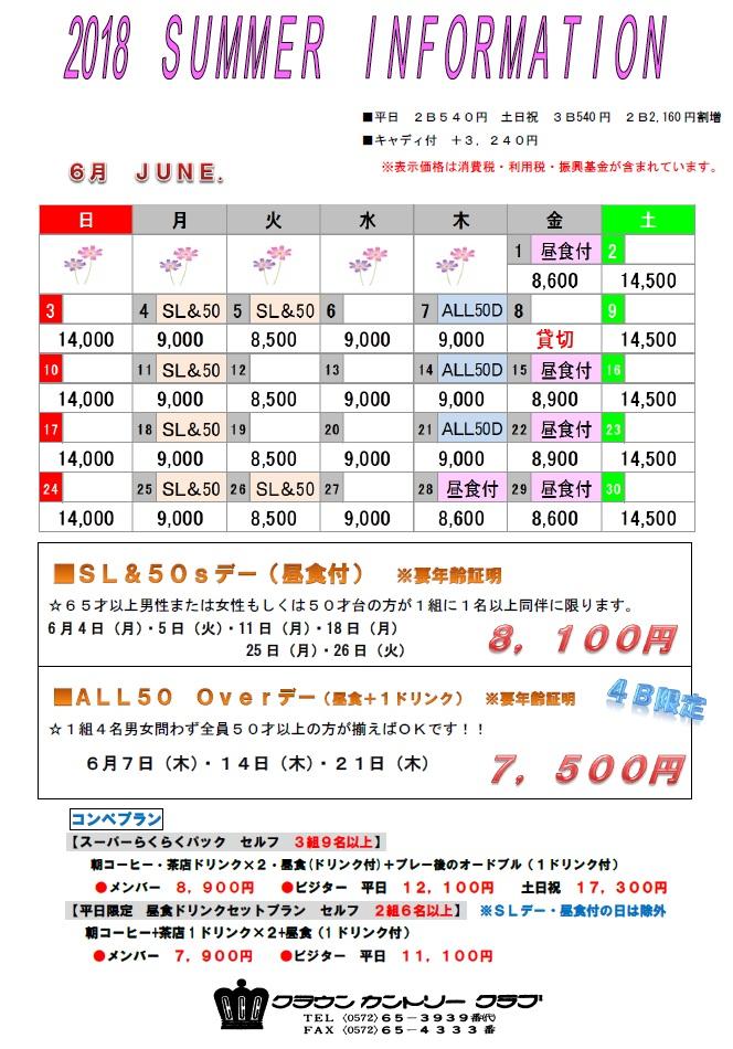 H30・6月料金表